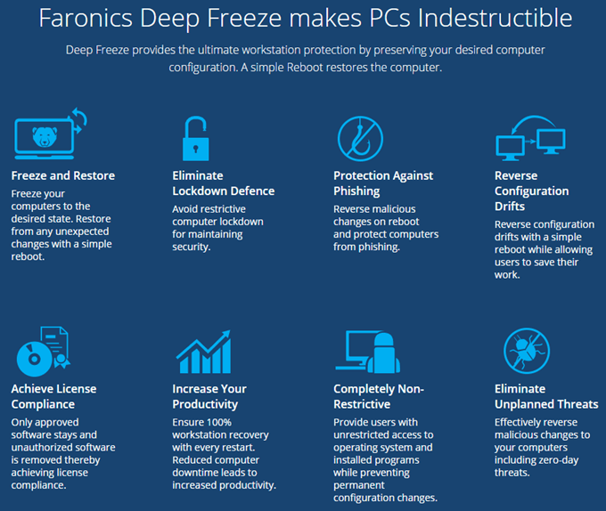 deep freeze benefits